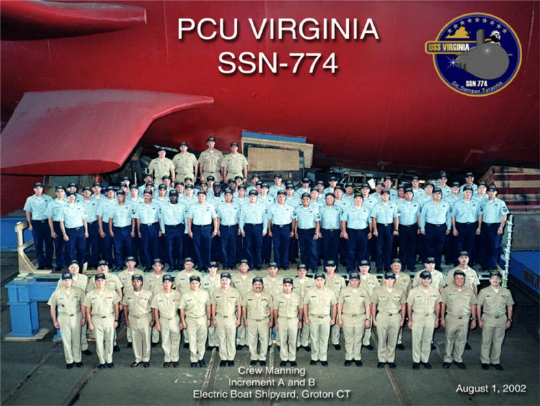 First Crew of USS Virginia (SSN-774)